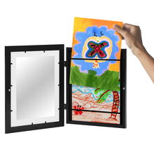 Load image into Gallery viewer, Kids Artwork Picture Frame with Shatter-Resistant Glass - Display Artworks Sized 8.5x11 with Mat and 10x12.5 without Mat