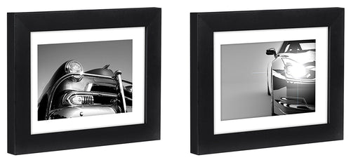 Two Tabletop Frames Made to Display Pictures Sized 4x6 inches with Mat and 5x7 without Mat