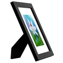 Load image into Gallery viewer, 2 Pack - 6x8 Tabletop Frames - Display Pictures 4x6 with Mat - Display Pictures 6x8 Without Mat - Glass Fronts, Easel Stands, Ready to Display on Tabletop