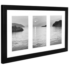 Load image into Gallery viewer, 8x14 Collage Picture Frame - Display Three 4x6 Inch Photos on Your Wall - Perfect As a Family Collage Picture Frame