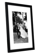 Load image into Gallery viewer, 12 Pack - 12x16 Black Picture Frames - Display Pictures 8x12 with Mats - Display Pictures 12x16 Without Mats - Glass Fronts - Hanging Hardware Included