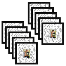 Load image into Gallery viewer, 10 Pack - 14x14 Wedding Signature Picture Frames - Display Pictures 5x7 with Mats - Display Pictures 14x14 Without Mats - Made with Glass