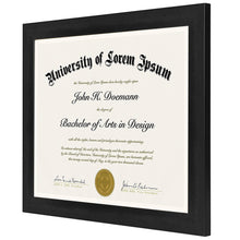 Load image into Gallery viewer, 2 Pack - 8.5x11 Document Frames - Made to Display Certificates, Documents, Standard Papers