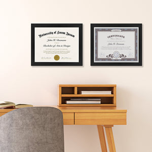 2 Pack - 8.5x11 Document Frames - Made to Display Certificates, Documents, Standard Papers