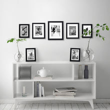 Load image into Gallery viewer, 7 Pack Gallery Wall Set - Includes: One 11x14 Frame, Two 8x10 Frames, and Four 5x7 Frames