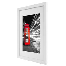 Load image into Gallery viewer, 11x14 White Picture Frame - Made to Display Pictures 8x10 with Mat or 11x14 without Mat - Wide Molding - Wall Mounting Material Included