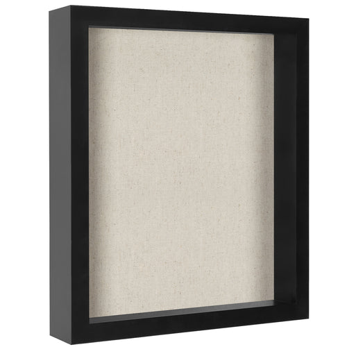 11x14 Shadow Box Frame - Soft Linen Back - Perfect to Display Memorabilia, Pins, Awards, Medals, Ticket, Photos