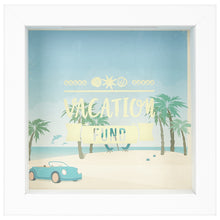 Load image into Gallery viewer, 6x6 Inch Vacation Fund Shadow Box Frame