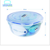Lock&Lock Nestable Round Food Container 5L (With Blue Silicone)