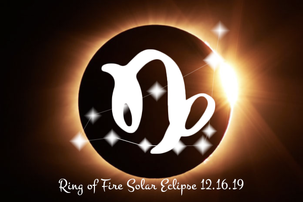 New Moon in Capricorn & Ring of Fire Solar Eclipse Dec 26 2019