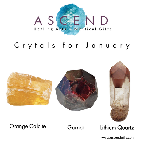 Crystals for January 2020, Crystal Healing, Crystal Energy