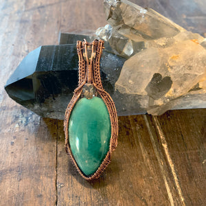 Variscite and Smokey Quartz Pendant