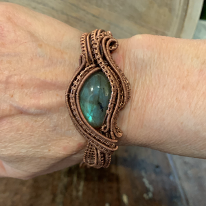 Labradorite Bracelet -The Empath Bracelet.  Protects and Grounds Energy.