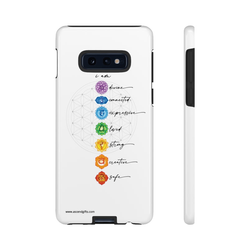 Chakra + Flower of Life Phone Case