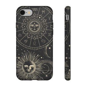 Astrology, Sun, Moon Phone Case
