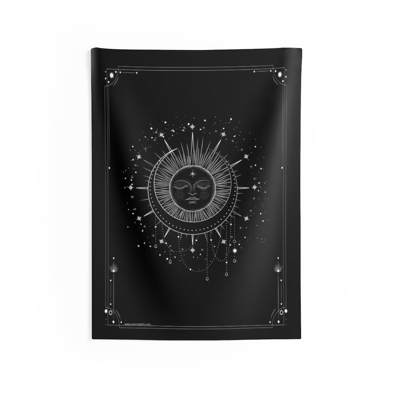 Sleeping Sun and Moon Altar Cloth, Tarot Spread Cloth