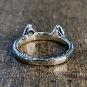 Cat Ears Sterling Silver Ring