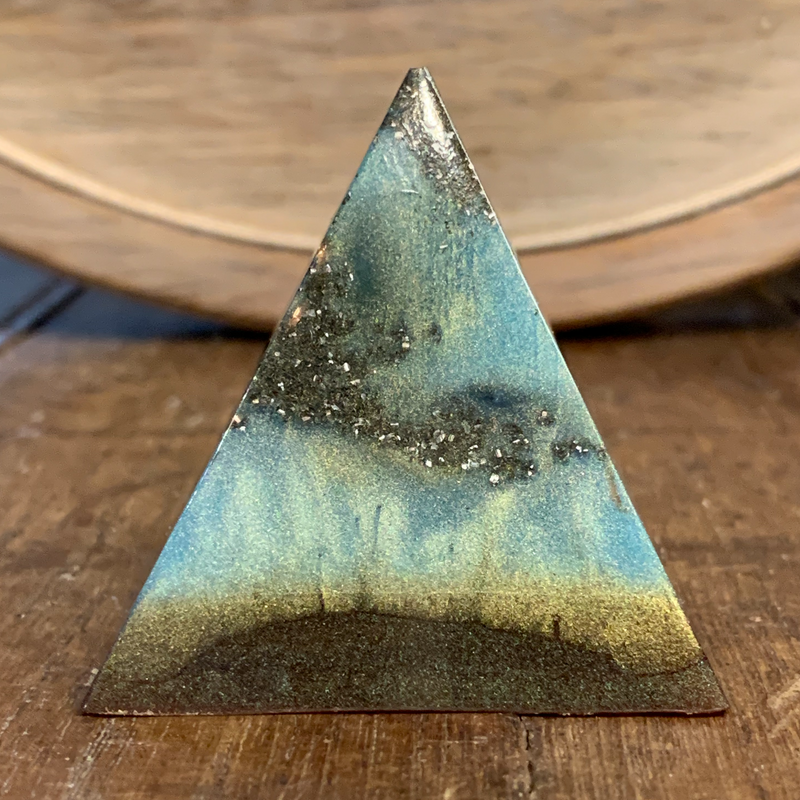 Orgonite Pyramid, Mystic Skies Orgonite