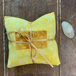 Citrine & Herb filled Solar Plexus Crystal Rx Pillow, Healers Tools