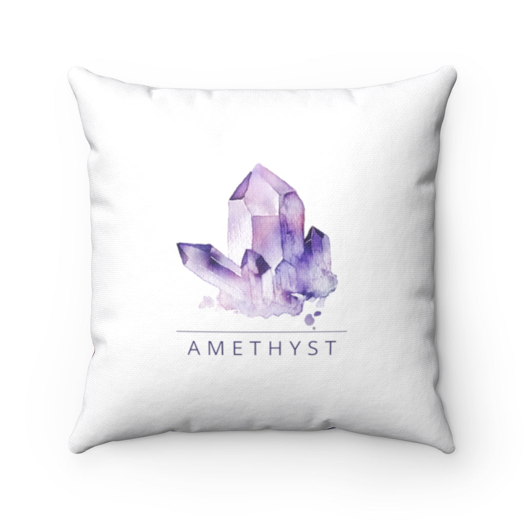 Amethyst Crystal Decorative Pillow