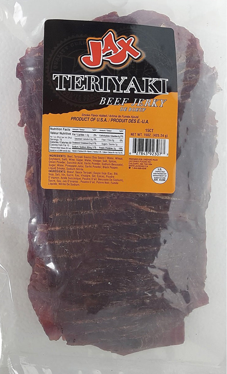15 pieces bag of Jax Original Beef Jerky Mighty Slabs