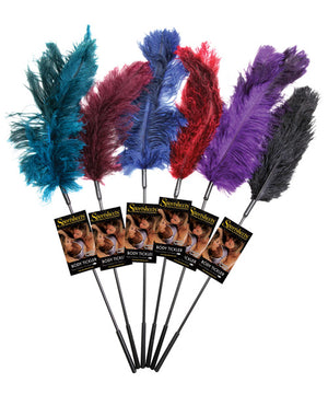 Sportsheets Ostrich Feather Ticklers - Asst. Colors Dozen