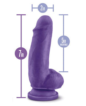 "Blush Au Naturel Bold Thrill 7"" Dildo - Purple"