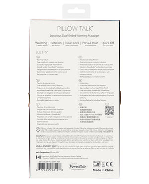 Pillow Talk Sultry Rotating Wand