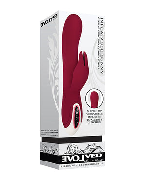Evolved Inflatable Bunny Dual Stim Rechargeable - Burgundy