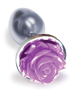 The 9's The Silver Starter Rose Floral Stainless Steel Butt Plug -