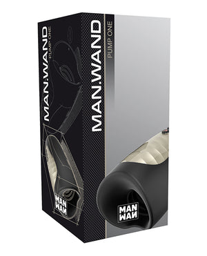 Man Wand Heat Suction And Vibe Pump - Black