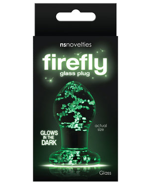 Firefly Clear Glass Plug - Glow
