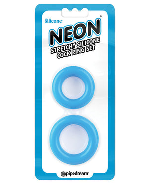Neon Luv Touch Stretchy Silicone Cock Ring Set