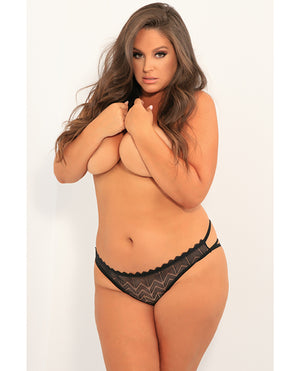 Rene Rofe No Restrictions Crotchless Panty Black