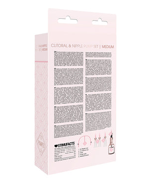 Shots Pumped Clitoral & Nipple Pump Set - Medium Rose Gold