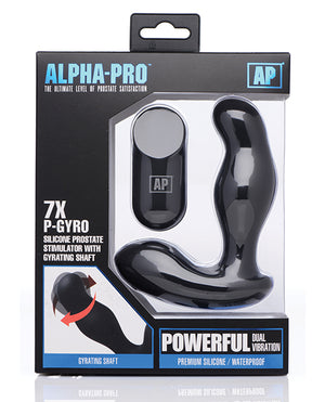 Alpha Pro 7x P-gyro Prostate Stimulator W-rotating Shaft - Black