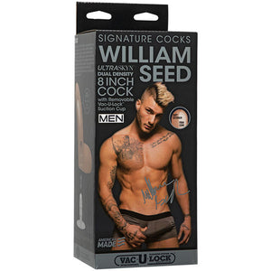 Signature Cocks - William Seed - 8 Inch Ultraskyn Cock With Removable Vac-U-Lock Suction Cup
