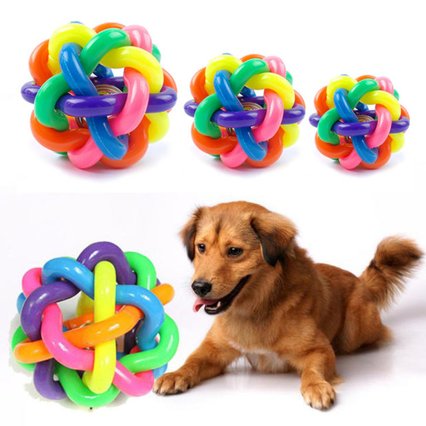 Pet sound toys rainbow knitting
