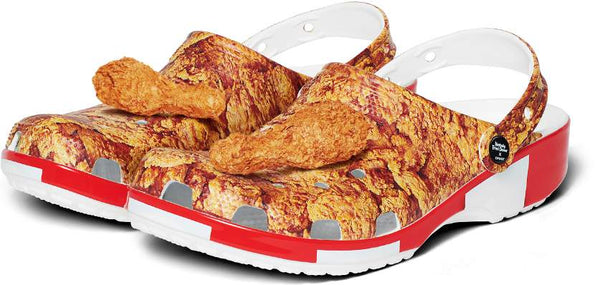 KFC & CROCS Joining To Make A Fried Chicken Clog That Smells Like It, Too
