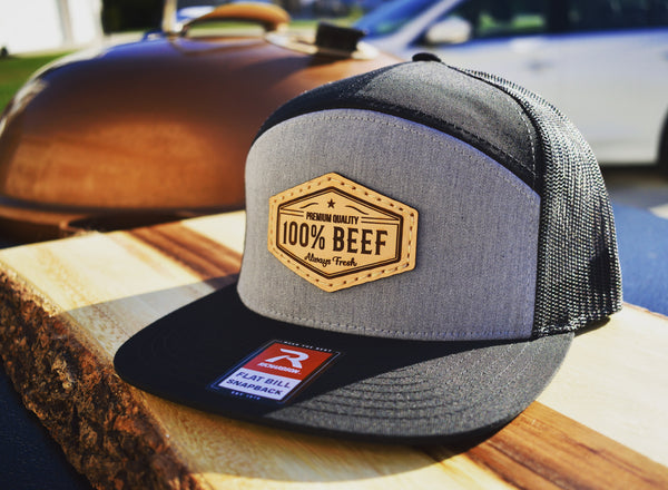 100% Beef Leather Patch Hat - Kettle Freaks