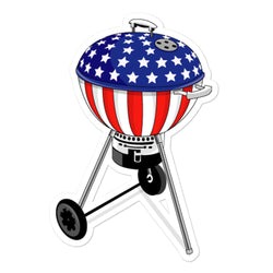 American Flag Kettle Stickers - Kettle Freaks