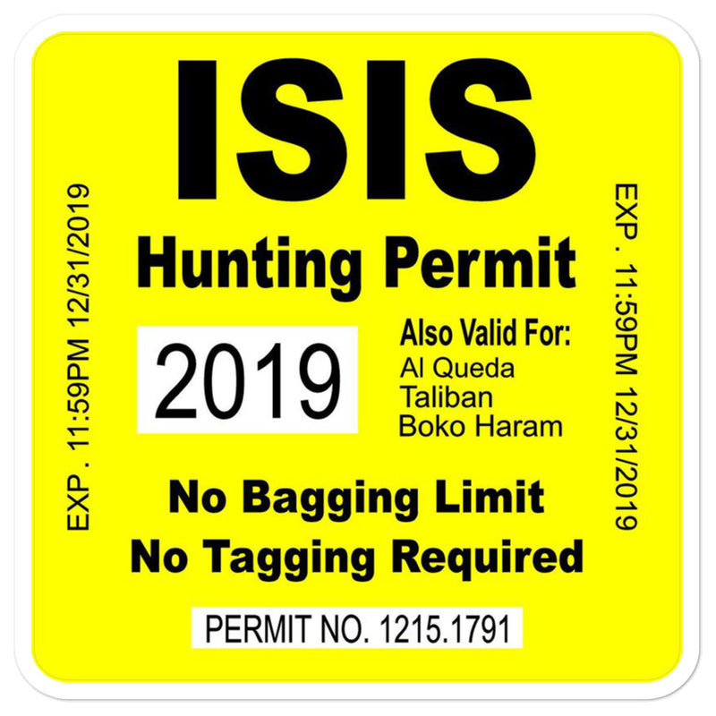 ISIS Hunting Permit Sticker - Kettle Freaks