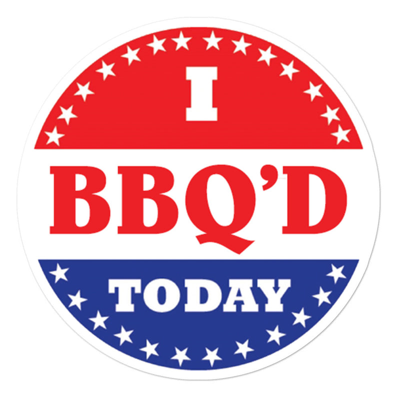 I BBQ'D TODAY Stickers - Kettle Freaks