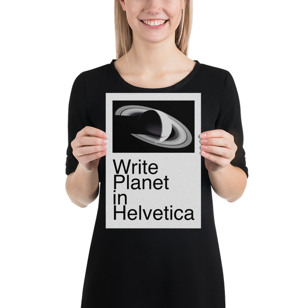 Planet In Helvetica