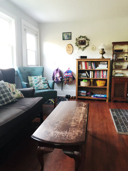Take a House Tour of our tiny, DEBT-FREE House - living room