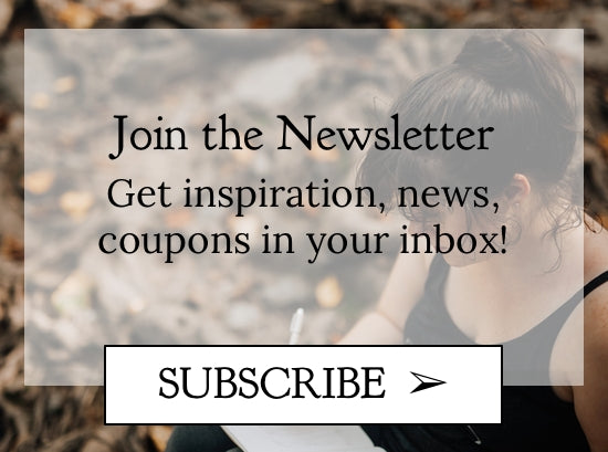 Join the Newsletter - get inspiration, shop news, and coupons in your inbox! - Chasing wonderment newsletter - inspirational words
