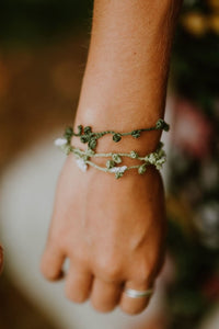 Flowery Vine Bracelets - Set of Three