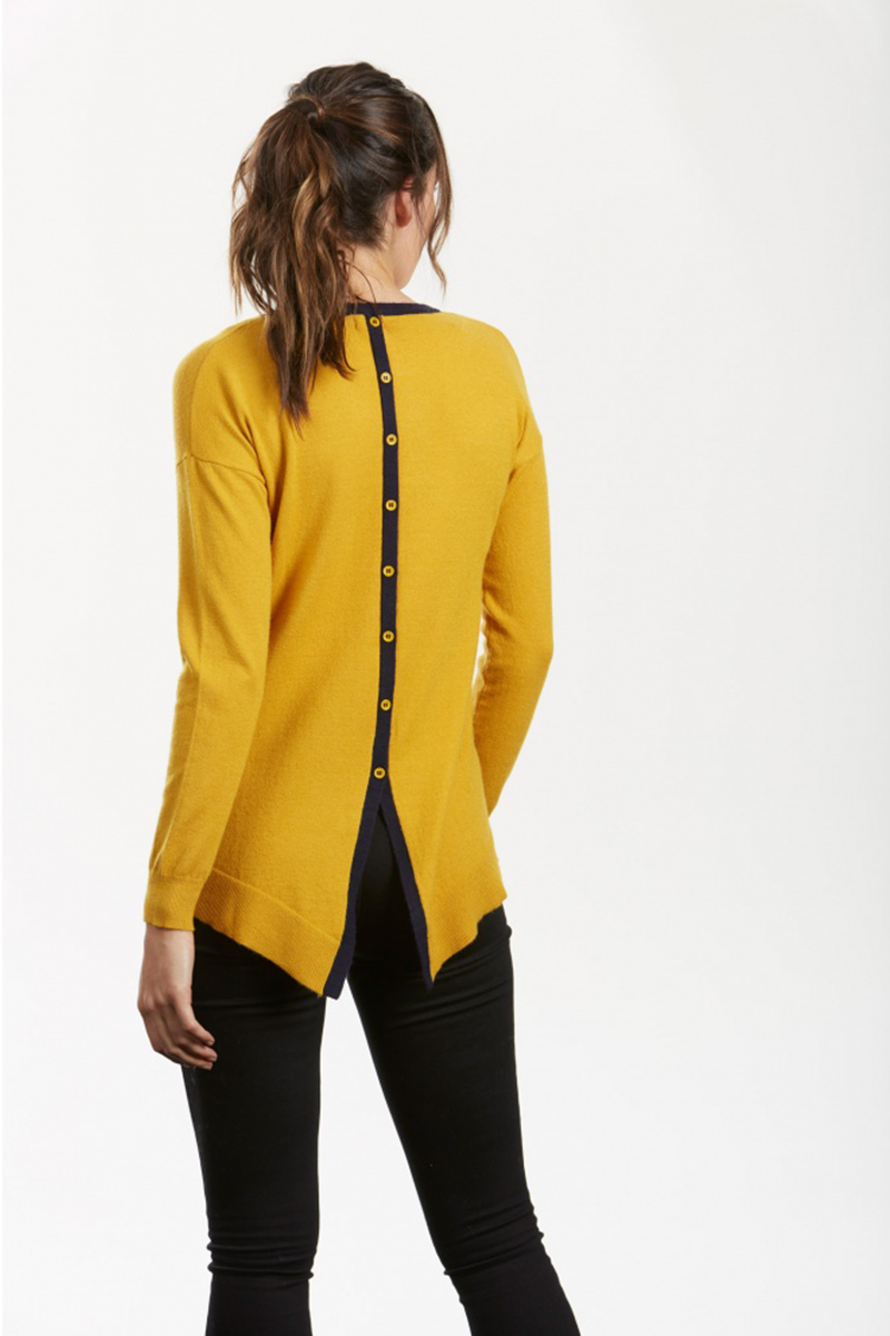 Button Back Pullover