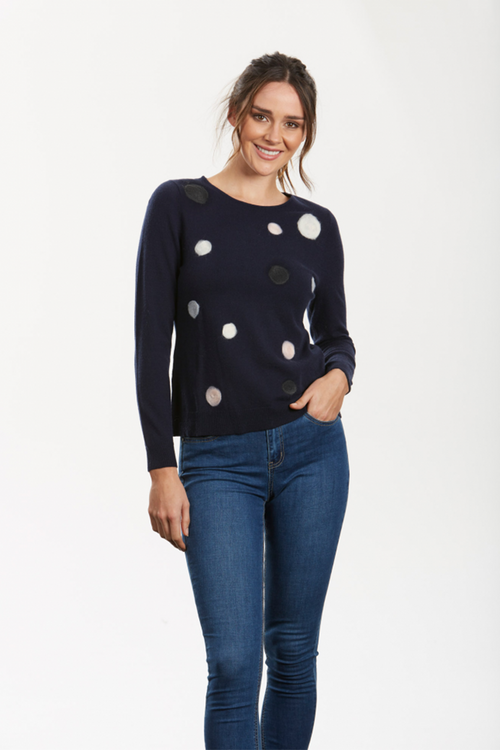Felted Spot Pullover