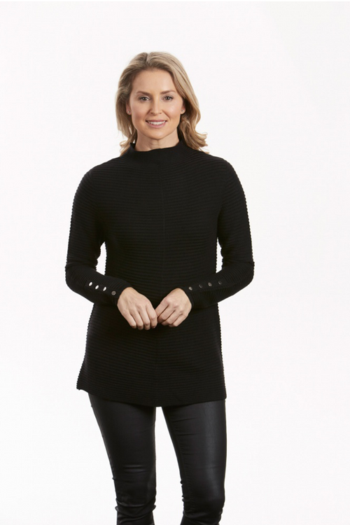 Funnel Neck Textured Tunic